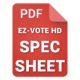 EZ-VOTE HD Response Keypad Specifications
