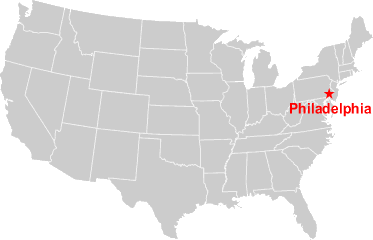 Map of USA Philadelphia Office