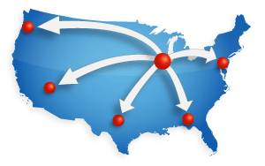 Multisite Map of USA