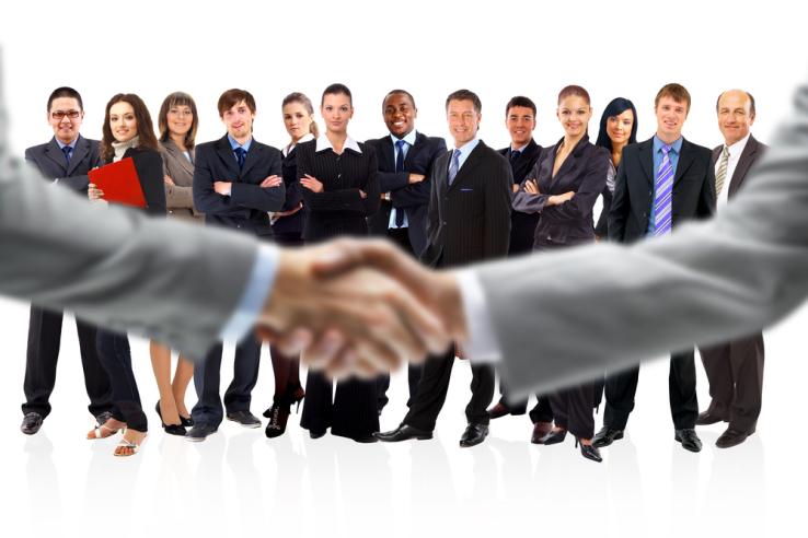 Group Response Keypads used in Sales Meeting