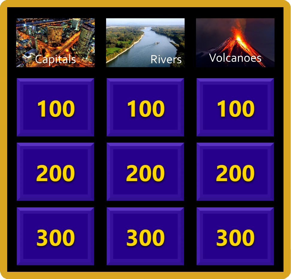 Sample Jeopardy-like Interactive Meeting Game