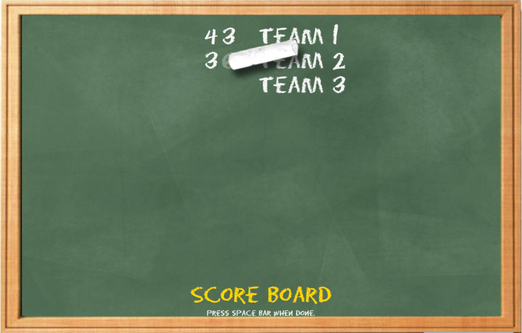 Are You Smarter Than a 5th Grader Interactive Meeting Game Score Board
