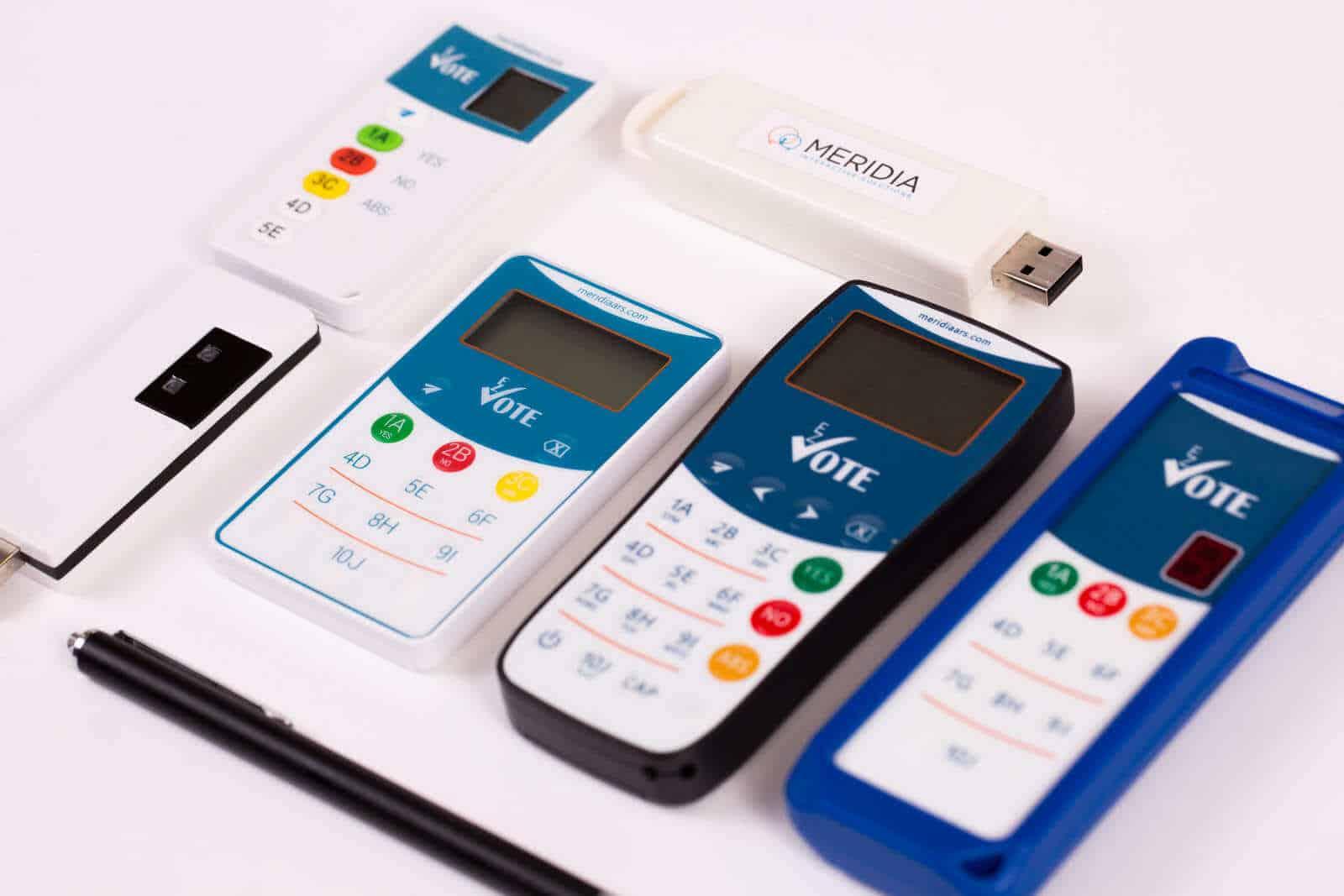 Electronic Voting Keypads
