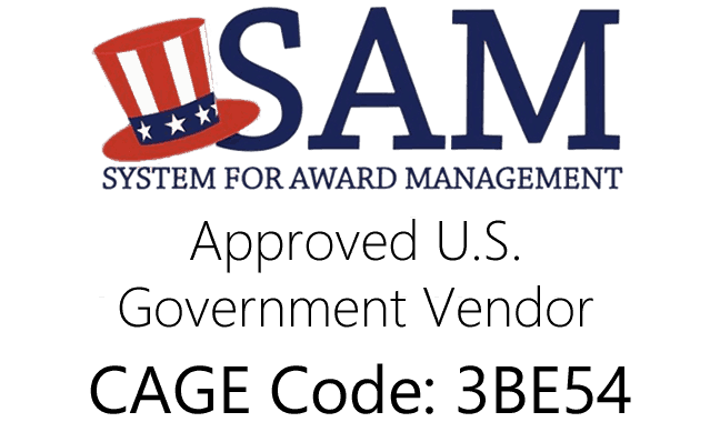 SAM U.S. Government Approved Vendor