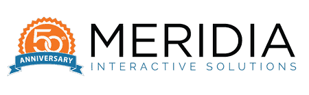 Meridia 50th Anniversary Logo