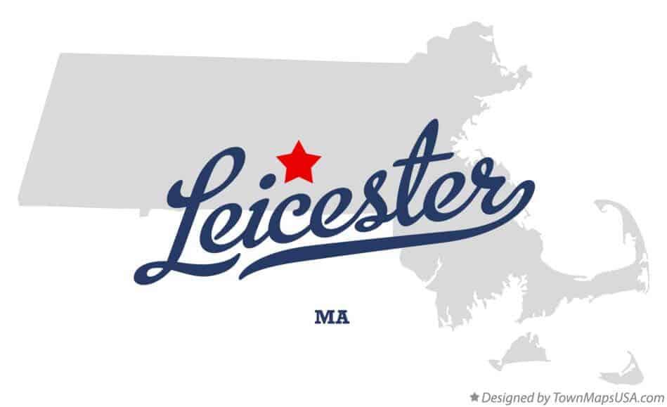 Leicester Massachusetts Map