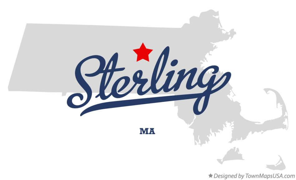 Town of Sterling MA map