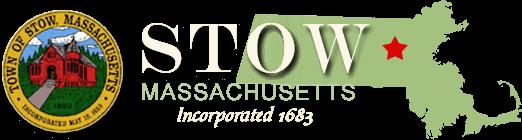 stow Massachusetts map logo