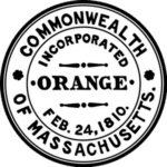 Town of Orange Logo Seal Black & White