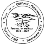 Town of Conway, MA Seal Logo Black & White
