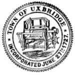 Town of Uxbridge Logo Seal Black & White