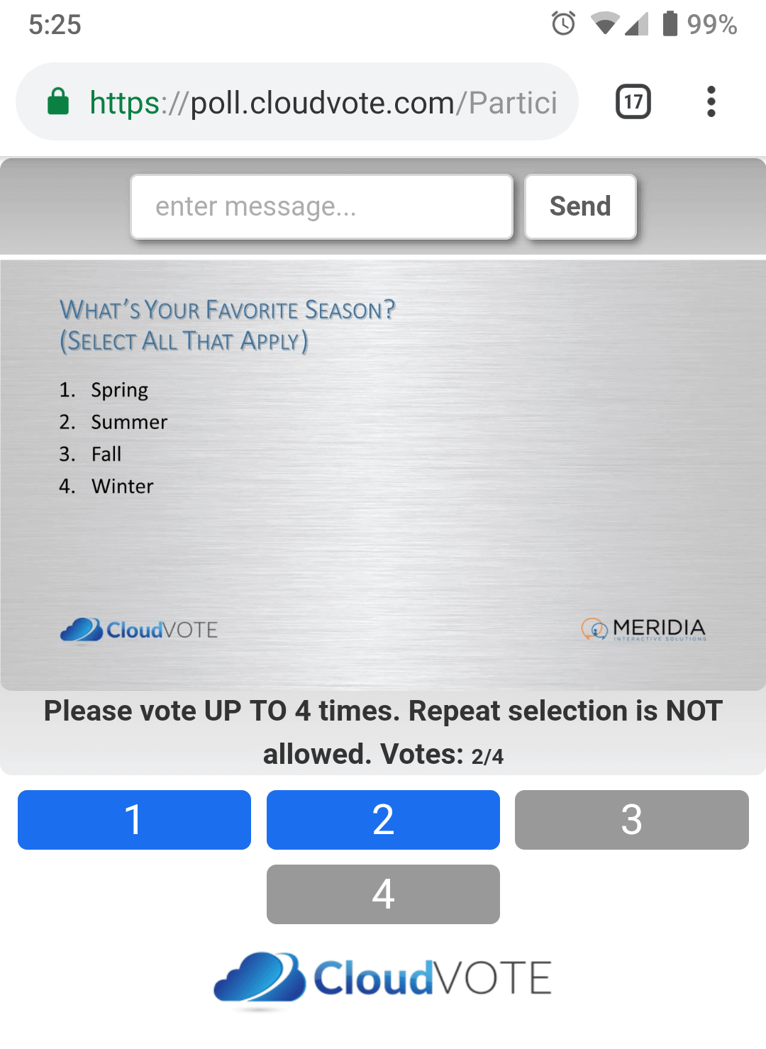 CloudVOTE Online Electronic Voting WebPad